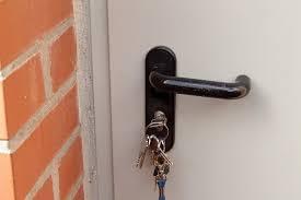 Key stuck in the door lock