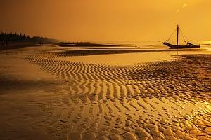 Sea shore and a boat